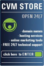 Domain Names, hosting services, online marketing tools - CVM Store